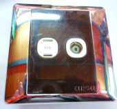 Clipsal 12v /2 pin socket brown